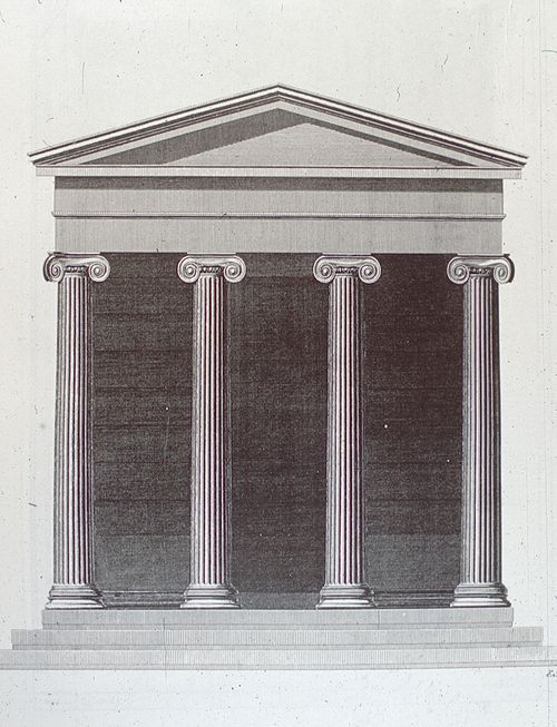 S&R, Temple on the Iissus, elevation