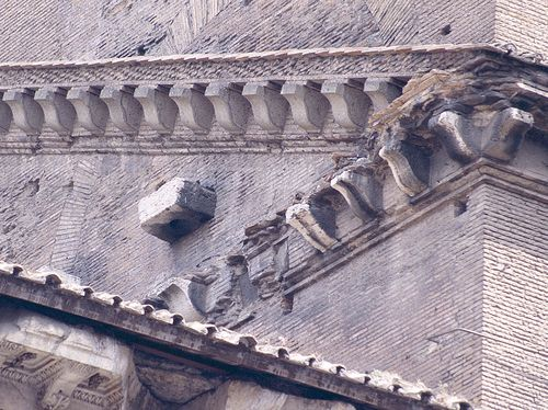 Pantheon, cornice detail